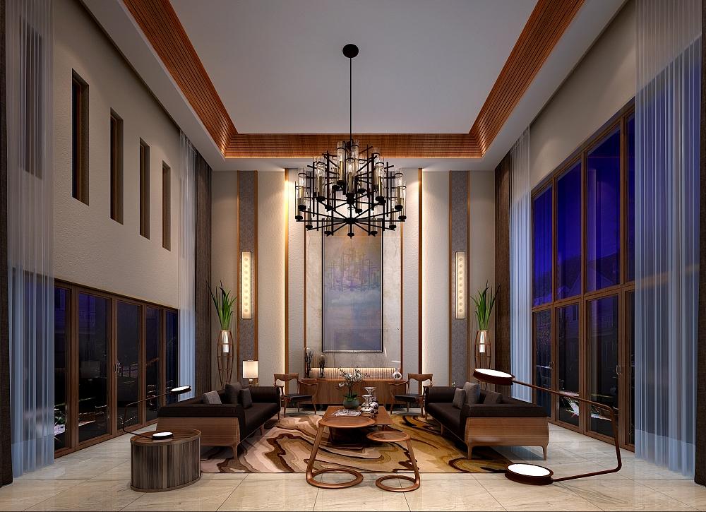 建筑本身的结构也为这个案子增色不少,外观有虚有实,结构变化丰富有趣,很有中国文化底蕴,窗户的设计长而高,线条很干净。
