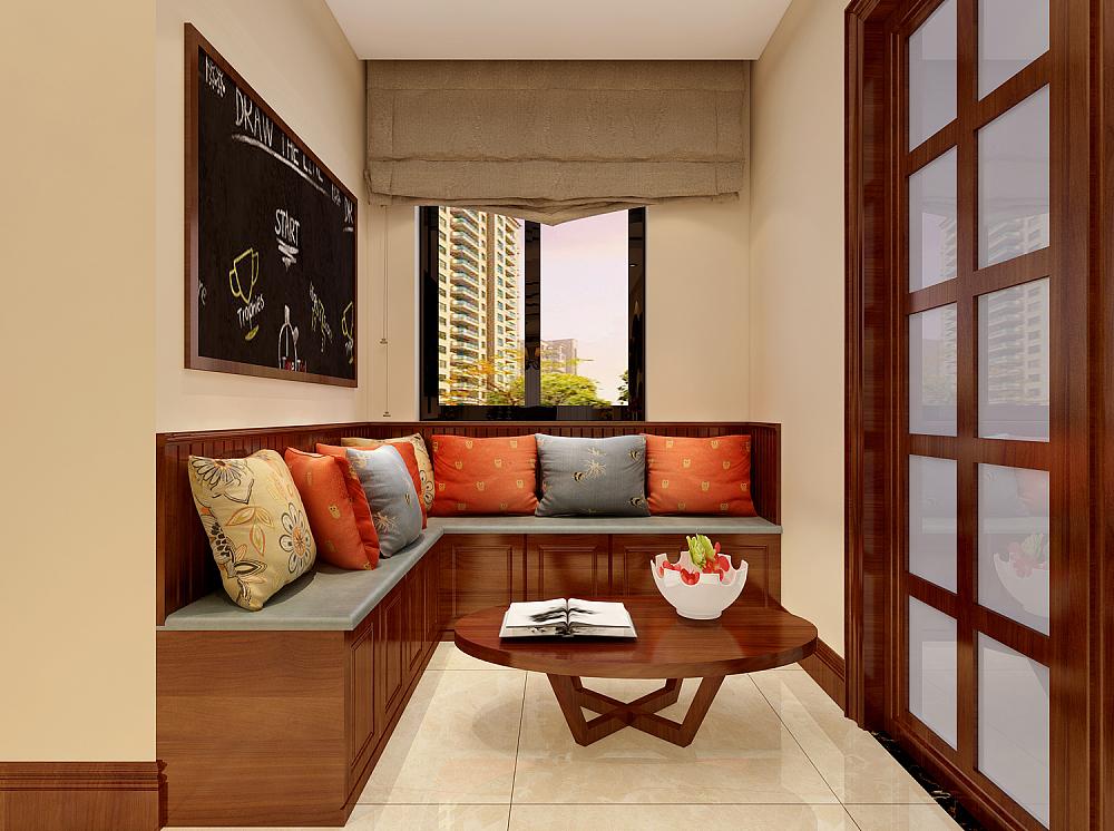 """所谓""""开门见厅"""",虽然起的是一个过度作用,但它在决定一个家庭的整体装修风格上占有很大比重,也是开门后给人第一印象的重要场所。本案例中设计师将门厅作为小客厅使用,靠墙木质沙发很好的掩盖了空间不大的劣势。"""
