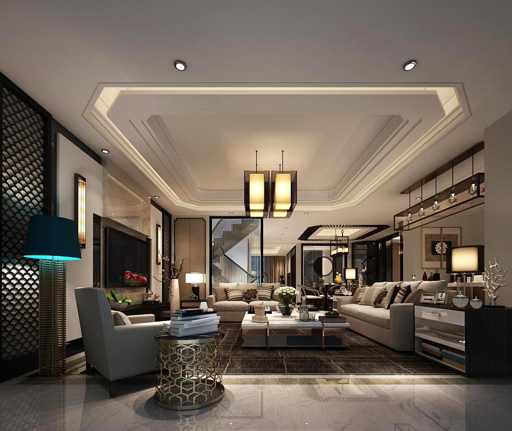客餐厅:主要采用硬朗简洁的直线条,空间具有层次感。既使得中式家具古典、质朴的内涵显现,又符合现代人追求的时尚感、实用性。屏风等中式特有元素的绝妙设计无不体现了中国文化的魅力。