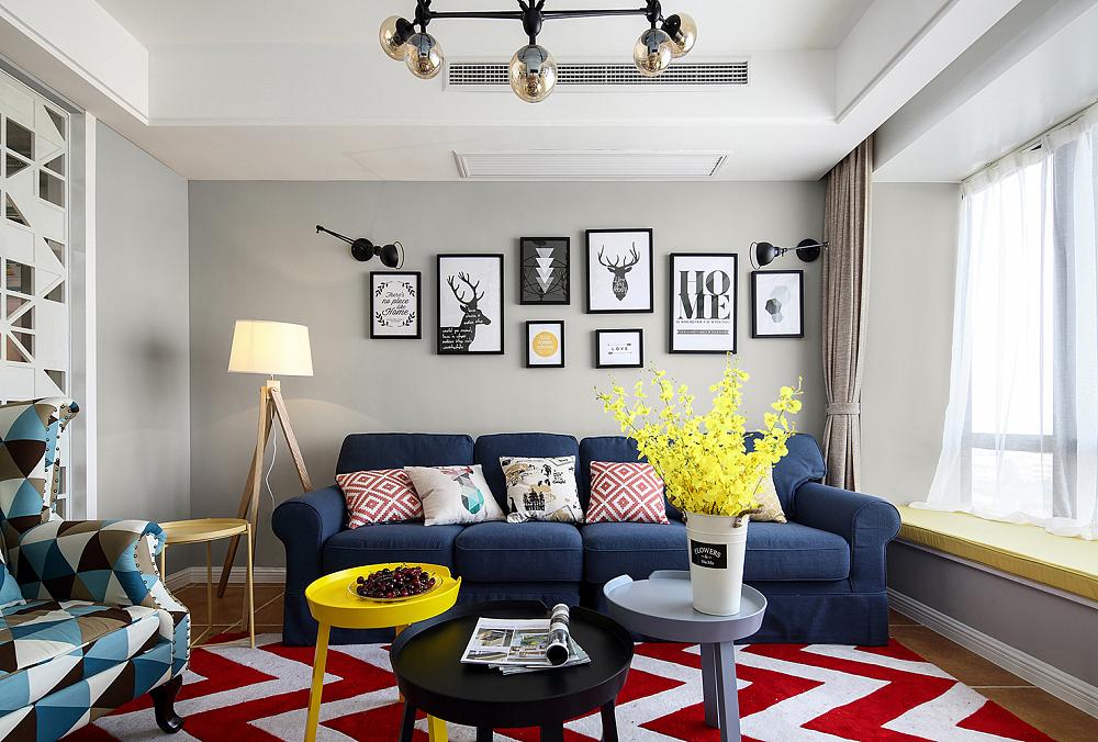 灰色彩漆,布艺沙发,搭配简约家具